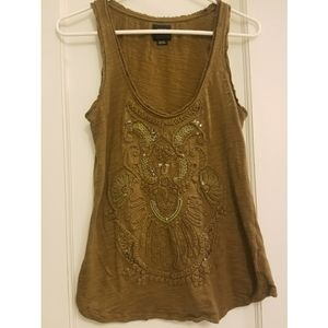 Anthropologie Deletta Army Green Tank Top